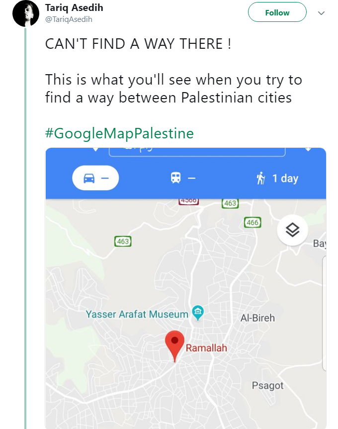 Why Does Google Maps Not Recognize Palestine or its Roads? | Al Bawaba