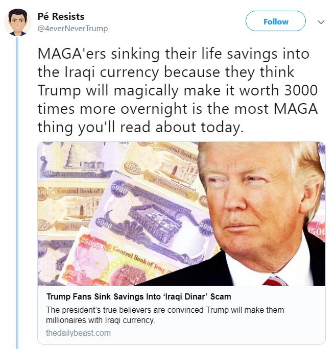Trump Fans Save Iraqi Dinars
