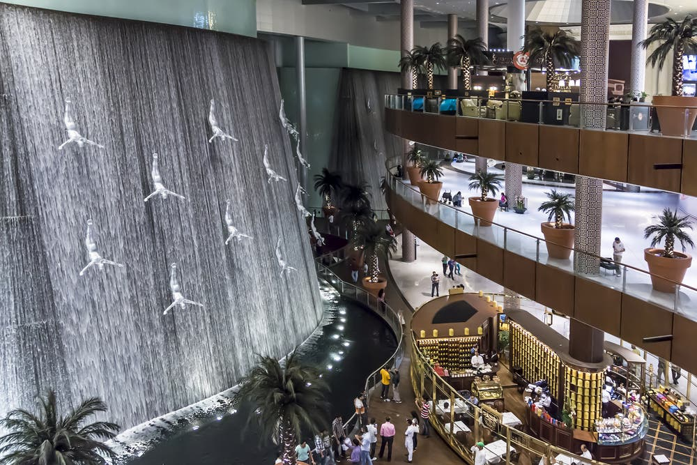 Waterfall in Dubai Mall (Shutterstock/File Photo)
