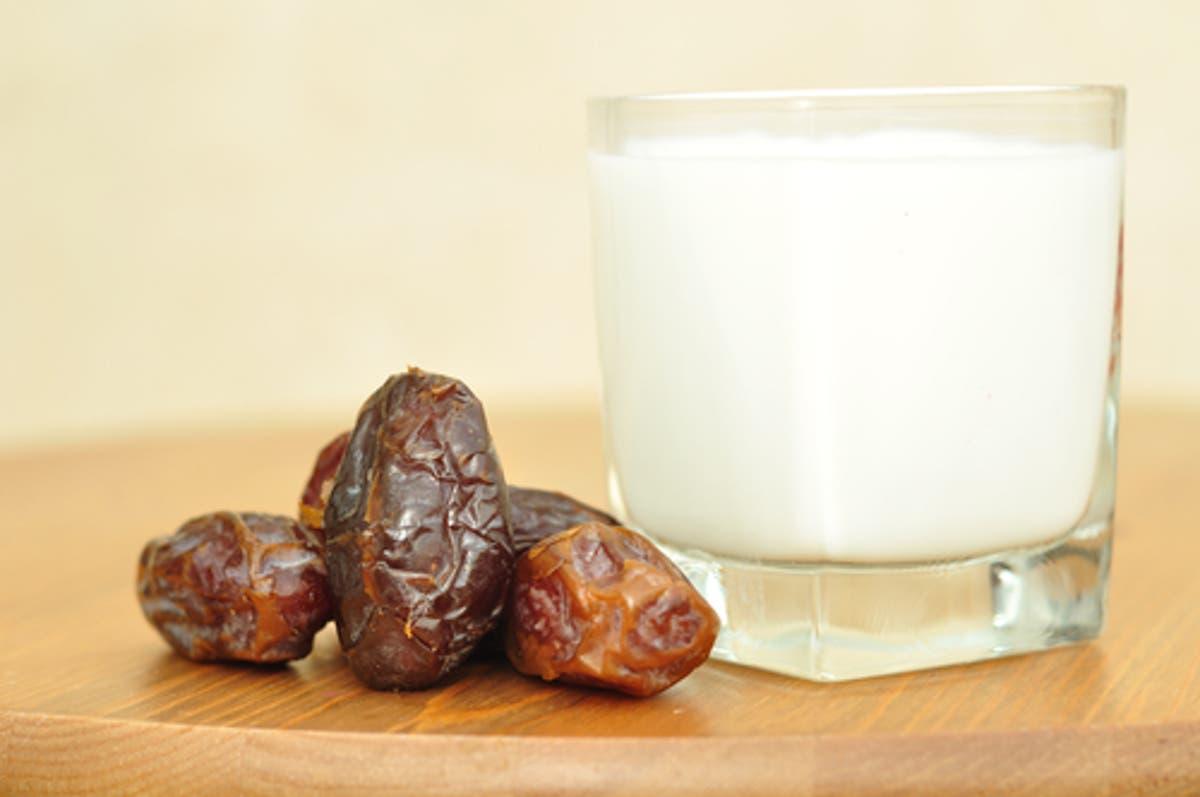 رجيم التمر واللبن للتنحيف في شهر رمضان البوابة