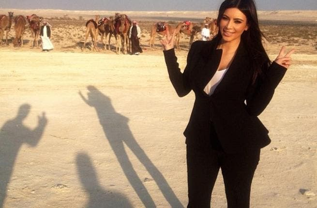 Kim Kardashian in Bahrain (via her Twitter account)