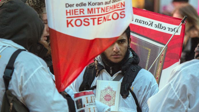 True Religion has around 500 members in Germany. The organization caused controversy in Germany with a project called 'Lies!' to hand out 25 million translations of the Koran for free. (AFP/File)