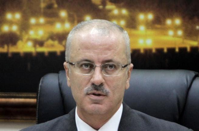 Palestinian Prime Minister Rami Hamdallah. AFP PHOTO/ABBAS MOMANI