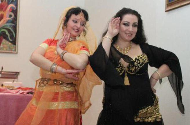 Bulgarian belly-dancers performing to raise funds for Syrian refugees