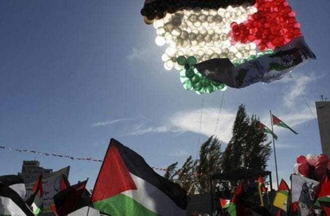Balloons in the shape of Palestinian flags were launched. [monitor]