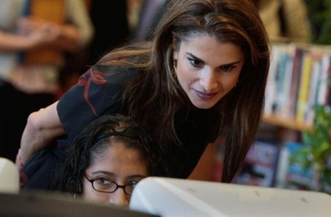 Jordanian females are the top in using the internet in the Arab World - with Queen Rania as a famous example.