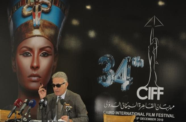 Ezzat Abou Ouf during the press conference yesterday. Courtesy of CIFF photos