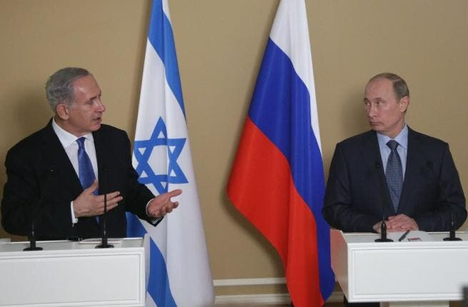 Putin will receive his Israeli counterpart on Tuesday to discuss the current issues in the Middle East. (AFP PHOTO/ POOL/ MAXIM SHIPENKOV)