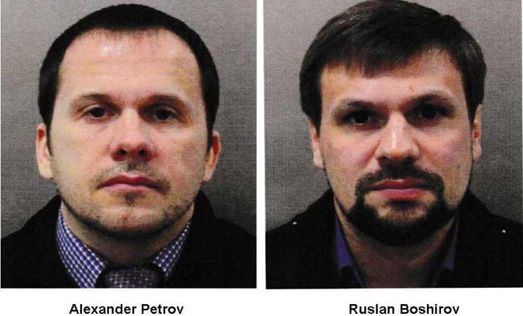 المشتبه بهما في تسميم الجاسوس الروسي السابق سيرغي سكريبال وابنته في انكلترا