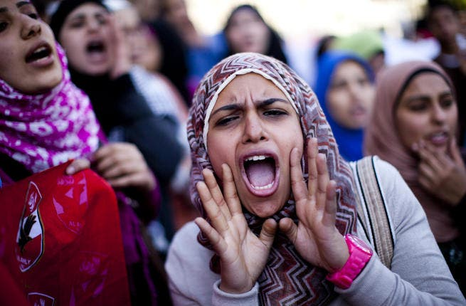 Organized by a coalition of 16 feminist NGOs , hundreds marched in the name of female representation in Egypt's government.