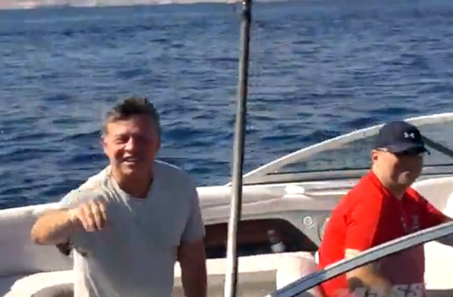 A video of still of HM King Abdullah.