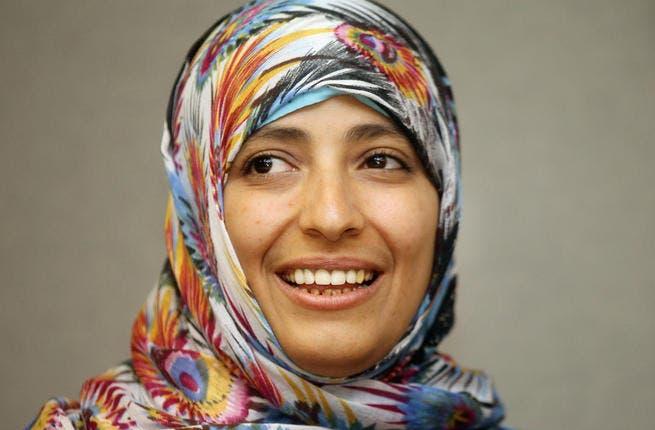 Nobel Prize Winner Tawakul Karman has motivated female volunteers to get more involved in the revolution.