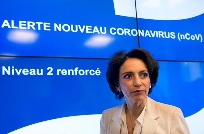French Social Affairs and Health Minister Marisol Touraine visits the French Health Protection Agency (Institut de veille sanitaire, InVS) on May 12, 2013, in Saint-Maurice, outside Paris, after a man contracted a deadly new SARS-like virus after having come into contact with another man confirmed to have been infected. (Bertrand Langlois/AFP)