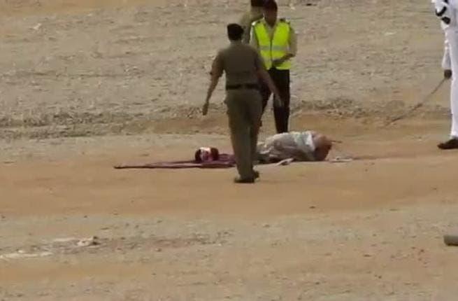 Beheaded convict put on public display in Saudi Arabia. [liveleak]