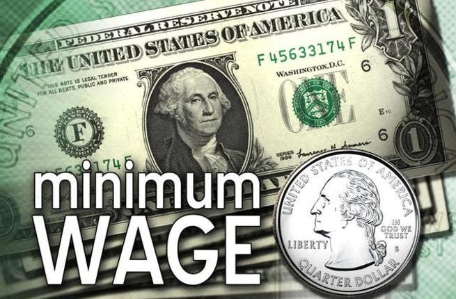 The government is looking into the possibility of raising the minimum wage, but nothing substantial has been done yet