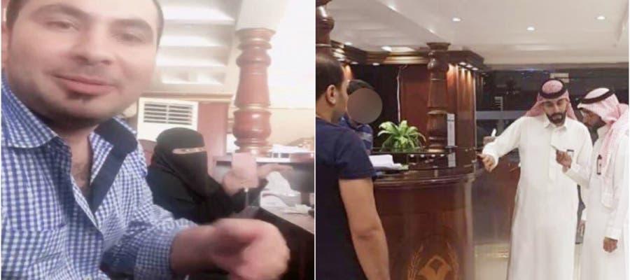 ظهر المصري وزميلته السعودية وهما يتناولان الإفطار ويلوحان إلى الكاميرا