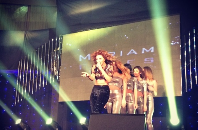 Myriam Fares performing at the OTV awards (Image: Instagram)