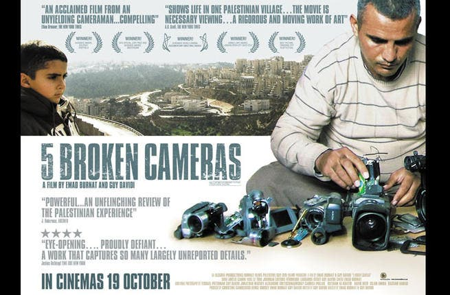 5 Broken Cameras: One man's chronicle of everyday life in the West Bank and the frustrations of Palestine's peaceful protests against the occupation has won this heartbreaking documentary a slew of awards, including an international Emmy. Co-directed by an Israeli, this is about the power of community spirit against all odds.