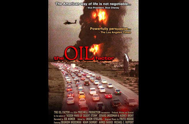 "The Oil Factor: AKA ""Behind the War on Terror"", this documentary questions the motives for the U.S. wars in the Middle East - where 3/4 of the world's oil and natural gas is located. Using interviews and speeches by President Bush and other administration officials, it puts forward an untraditional point of view wars and U.S. foreign policy."