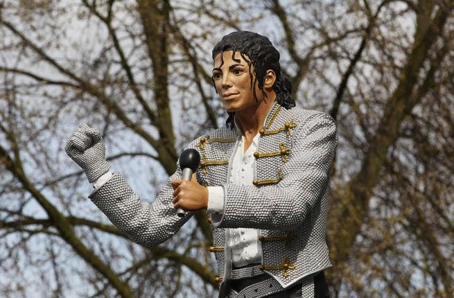 al-Fayed initially tried to get his Michael Jackson erected outside of quintessentially and former self-owned, British Harrods, where he has in recent years placed statue of son and Diana (the Dodi-Diana memorial)