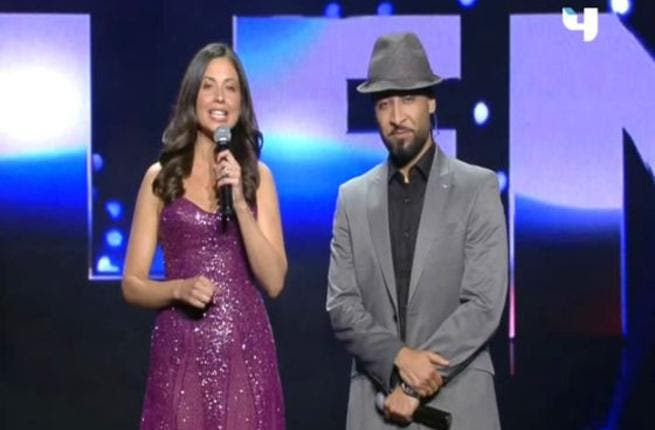 Host & hostess duo, Qusai & Raya: the show's presenting double act were on top form for the final. Qusai our rapping Saudi was decked out in a grey suit plus hat while Lebanese popular co-host Raya saw off  the second season of Arabs Got Talent in a mauve pretty number. They lent the show a global touch with their dash of English American words.