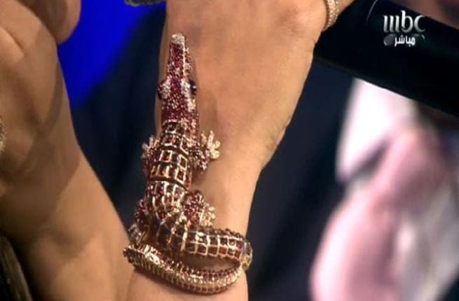 Ahlam's fashion sense stirs commotion: The gaudy jewel encrusted croc from Cavalli went down as another 'vulgar' fashion faux-pas. This crowded crocodile bracelet centre-piece and unwitting show attraction, diverted eyes from the voice-gems on stage to the judge panel.