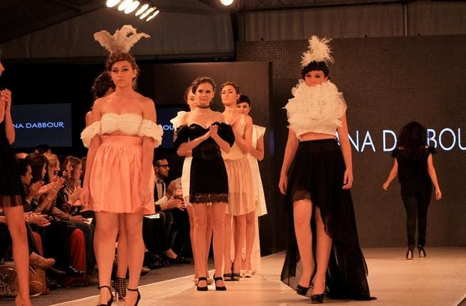 Ruffling a few feathers: hemlines were the highest yet at Rana Dabbour's show