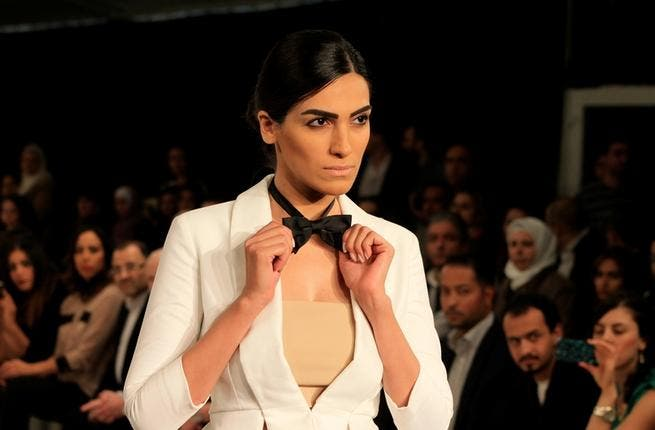 Masculine touches: bow ties, tops and tails at Alma Panturu's show