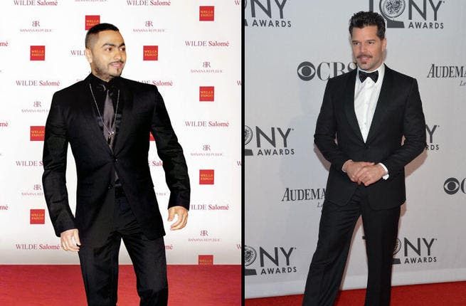 "We love you too, Tamer Hosny. The ""Bahebak Enta"" (I Love You) singer from Egypt is as MmMm good as Latin lover Ricky Martin. The two pop singers share dreamy looks and daring dance moves that will make you ""Shake your Bon-Bon."
