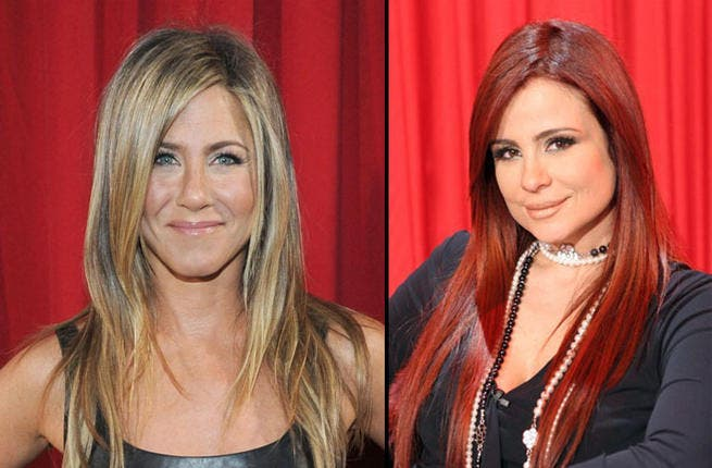 "Enviable barnets and cheeky smiles will make everyone wish they could be more than ""Friends"" with Carole Samaha and Jennifer Aniston. These two give off girl-next-door vibes, but given their success, they are clearly not to be underestimated."
