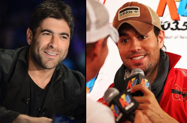 Si, si, we think Enrique Iglesias is as sultry as X Factor star Wael Kfoury, but you be the judge. The charismatic musical talents have a widespread fan base across the region and beyond. We also think they look like twins! What do you think?