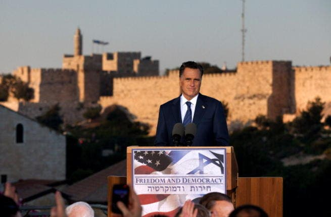 Republican forerunner for US President 2012, Mitt Romney, has not ingratiated himself with the Muslim world from the get-go: He killed any hope of charming Muslims when he descended on Israel and named Jerusalem (home to Islam's holiest sites) the capital of Israel in a move that left little doubt whose side of the Arab/Israeli fence he sat on.