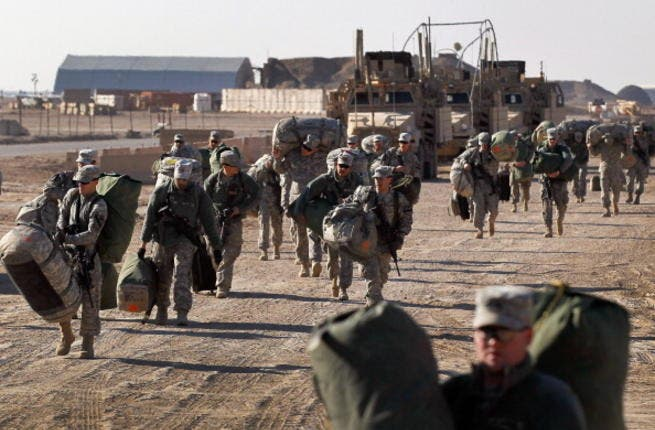 The pull-out of US troops ended December 2011. After dawdling on dates- they went all out-- literally - leaving Iraq in a huff, with no proof of the country being