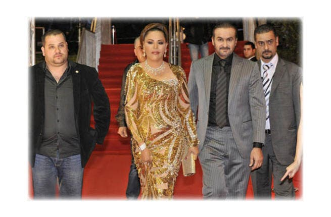 Arab Idol might claim to be all about the music but like last series, Ahlam's frivolous fashion choices have once again stolen the show. Spending cash like its going out of fashion, the diva reportedly dropped a cool $1 million on a necklace and ring combo that must have added some serious weight to the super-skinny singer.