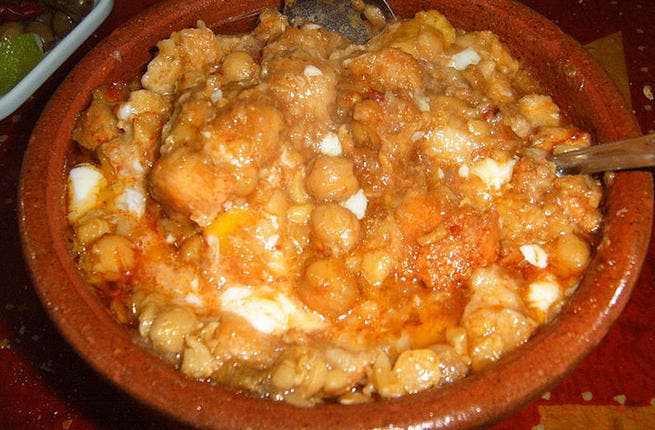 Tunisia's tasty traditional treat: Only the bravest tastebuds will savor Lablabi, the Tunisian national dish that comes with chickpeas dipped into a cumin-flavored soup, served with bread, tuna and harissa. This rustic ritual is not for the delicate palate!