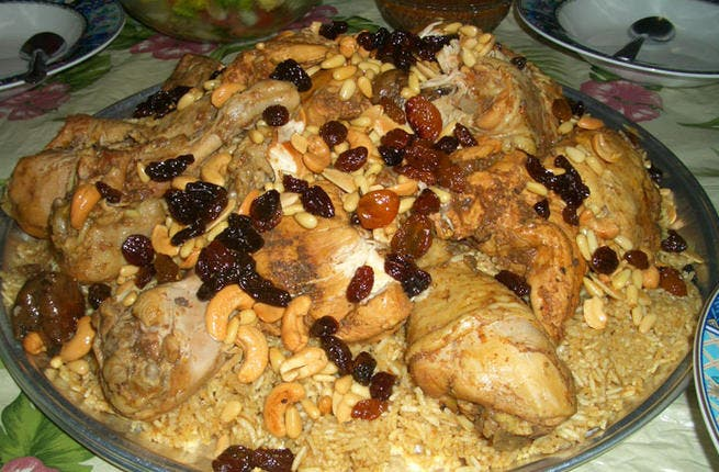 Saudi succulent staple: Kabsa is the definitive Saudi dish. With its main ingredient rice, kabsa can be made in a variety of ways, with different spices like saffron, cinnamon, black lime, bay leaves and nutmeg all making an appearance.
