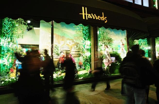 Harrods: She gravitated to her London roots as a regular spender at upmarket Harrods, where she in recent months shopped for offers on vases, which she had shipped. Perhaps suffering a case of retail therapy under stress.