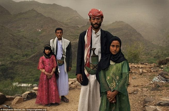 Although banned in most of the region, child marriages are still epidemic in some places. Over half of Yemen's girls are wed before 18, meaning you're less likely to find an adult bride than a child.