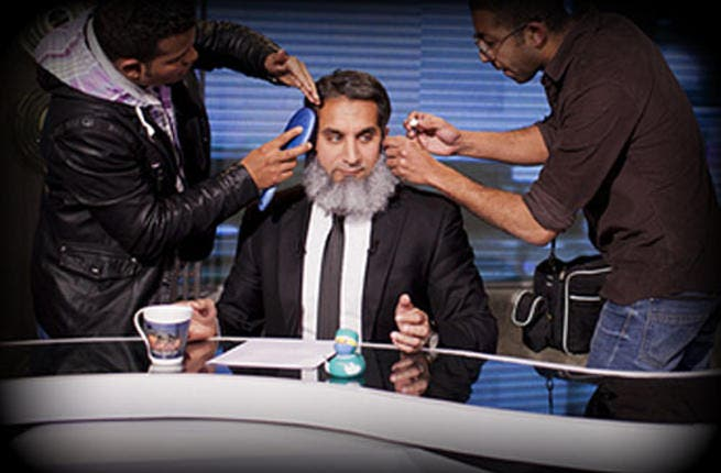 "Back in January, Egyptian preacher, Abu Islam Ahmed Abdallah, launched a catty attack on Bassem Youssef's manhood. The Islamist said the Egyptian funnyman is so ""pretty"" he should cover up with a full-face veil. Bassem responded:"