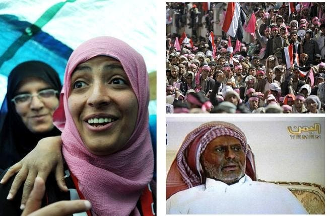 Yemen made strides for women and Arab persistence: Stubborn leader Ali Abdulla Saleh finally signed  a pledge to handover power not before being wounded and burnt (a growing trend in the fired up region) early on in June. Power transfer-treaties were brokered and Nobel Peace Prizes collected byTawakul Karman-- the woman protestor honored.