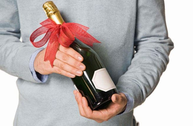 When wine does not say it best:  Check yourself before bringing a bottle instead of a thank you card - In Saudi Arabia and Kuwait, this gesture can land you behind bars. Just going on the fact that alcohol is legal in many Arab countries is no guarantee: it could be received favorably by a decadent drinker or frowned on by a teetotaler tycoon.