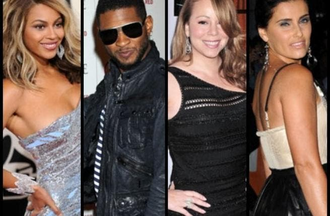 Usher comes out for performing, following in the guilty footsteps of Nelly Furtado, Beyonce and Mariah Carey.
