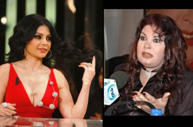 While sexy Lebanese star, Haifa, and Egyptian bellydancer, Fifi, were all smiles in public, rumor had it they were at each others throats away from the camera's glare. The pair of divas were working together on a TV soap but started more drama off-screen than on.
