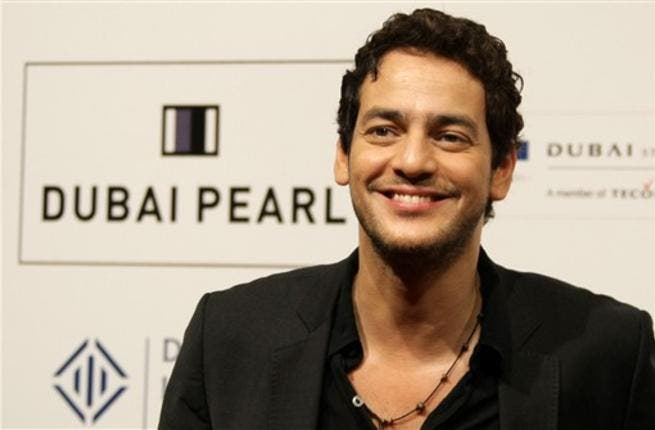 Egyptian actor Khaled Abul Naga arrives to attend the Cairo Exit film premiere.
