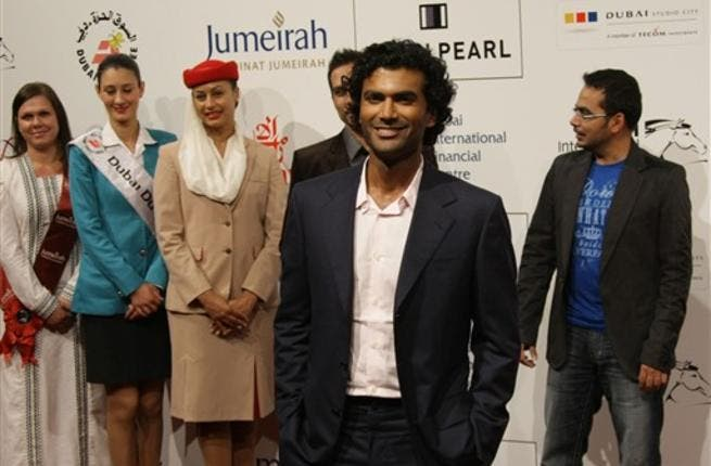 Actor Sendhil Ramamurthy arrives to attend the Cairo Exit film premiere.