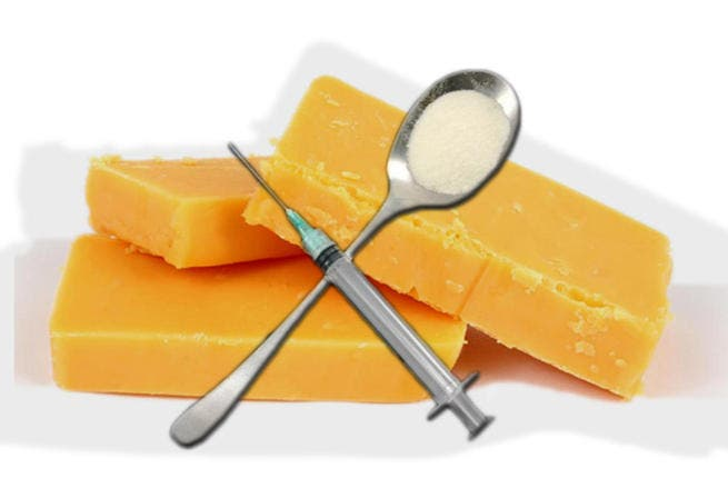 Say cheese! A crafty Arab duo were stopped in their tracks in Dubai after creating quite the stink with their plan to hide heroin and hashish in boxes full of cheese. The pair managed to smuggle nearly 20g of drugs in the cheddar.