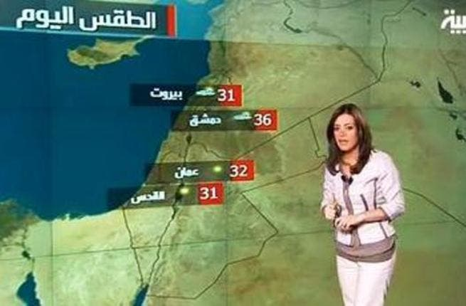 Sunshine to the East, FSA to the West: One of Dounia's more infamous conspiracies was that rival network AlArabiya was passing messages via their weather reports. So '36' for 'rebels hiding behind that building'. Eh?