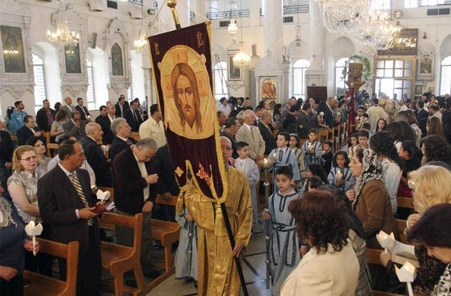 The Orthodox Christian community has been wary of marking the occasion since 2 bishops were kidnapped in April. Aleppo bishops Boulos Yazigi and Yuhanna Ibrahim were kidnapped by unknown gunmen, on their return from a trip to Turkey. Their driver was shot and their whereabouts is still unknown. Still, subdued celebrations went on in Damascus.