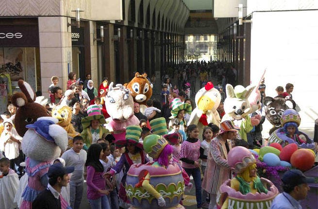 Beirut Souks is celebrating Easter loud and proud with a larger-than-life parade, full of stock Easter characters, dancers and musicians, and giant eggs. Along with the bizarre procession, the celebrations will also feature a story-telling tree and robotic bunnies.