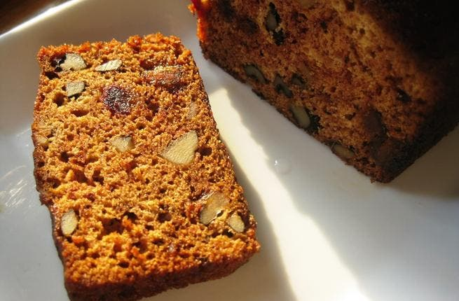 Date nut bread: Date nut bread is the perfect addition to a hot cup of coffee, as a light, after dinner dessert, or even as a quick breakfast on the go.